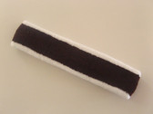 White seal brown white striped tennis headband long terry