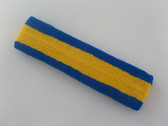 Yellow with blue trim headbands sports pro