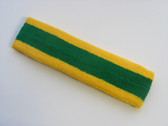Green with yellow trim headbands sports pro