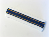 White dark blue with golden yellow line basketball headband pro