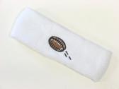 White custom terry head band sports sweat