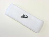 White custom sport sweat headband terry
