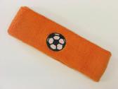 Orange custom headband sports sweat terry