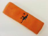 Orange custom sport headband sweat terry