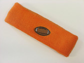 Orange custom headband sport sweat terry