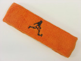 Orange custom terry headband sports sweat