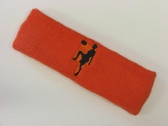 Dark orange custom sport headband sweat terry