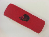 Red custom sport sweat head band terry