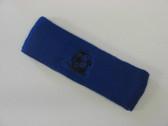Blue custom sport headbands sweat terry