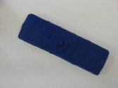 Blue custom head band sports sweat terry