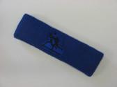 Blue custom sport sweat headbands terry