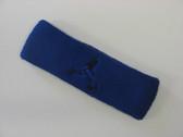 Blue custom terry headband sports sweat