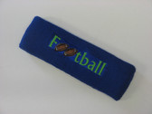 Blue custom terry headbands sports sweat