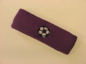 Purple custom headband sports sweat terry