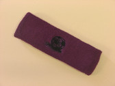 Purple custom sport headbands sweat terry