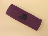 Purple custom sport sweat head band terry