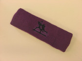 Purple custom sport sweat headbands terry