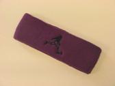 Purple custom terry headband sports sweat