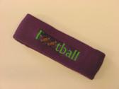 Purple custom terry headbands sports sweat
