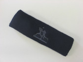 Navy custom sport sweat headbands terry