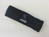 Navy custom sports headband sweat terry
