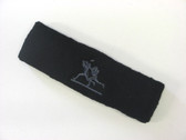 Black custom sport sweat headbands terry