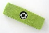 Lime green custom headband sports sweat terry