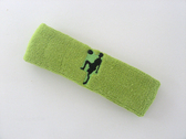 Lime green custom sport headband sweat terry