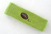 Lime green custom terry head band sports sweat