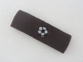 Brown custom headband sports sweat terry