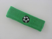 Bright green custom headband sports sweat terry