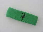 Bright green custom sport headband sweat terry