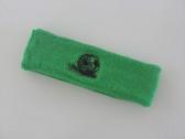 Bright green custom sport headbands sweat terry