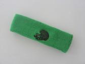 Bright green custom sport sweat head band terry