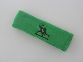 Bright green custom sport sweat headbands terry