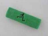 Bright green custom terry headband sports sweat