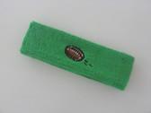 Bright green custom terry head band sports sweat