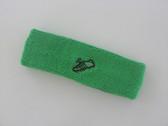 Bright green custom sport sweat headband terry