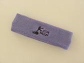 Lavender custom sport head band sweat terry