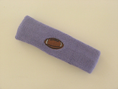 Lavender custom headband sport sweat terry