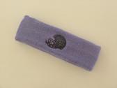 Lavender custom sport sweat head band terry