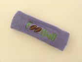 Lavender custom terry headband sports sweat