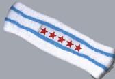 White sky blue headband pro with stars