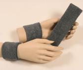 Charcoal dark grey headband wristband set for sports sweat