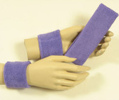 Lavender color headband wristband set for sports sweat