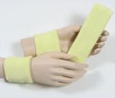 Lemonade yellow headband wristband set for sports sweat