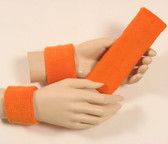 Light orange headband wristband set for sports sweat