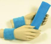 Sky blue headband wristband set for sports sweat