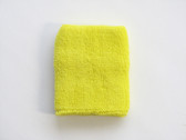 Bright yellow sport wristband for sweat