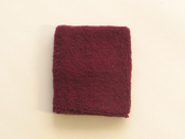 Maroon sport wristband for sweat